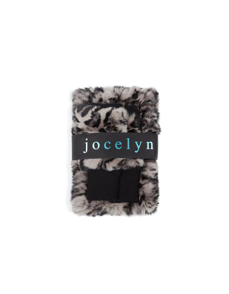 Jocelyn Jocelyn Multi Texty Time Mitten and Cowl Set