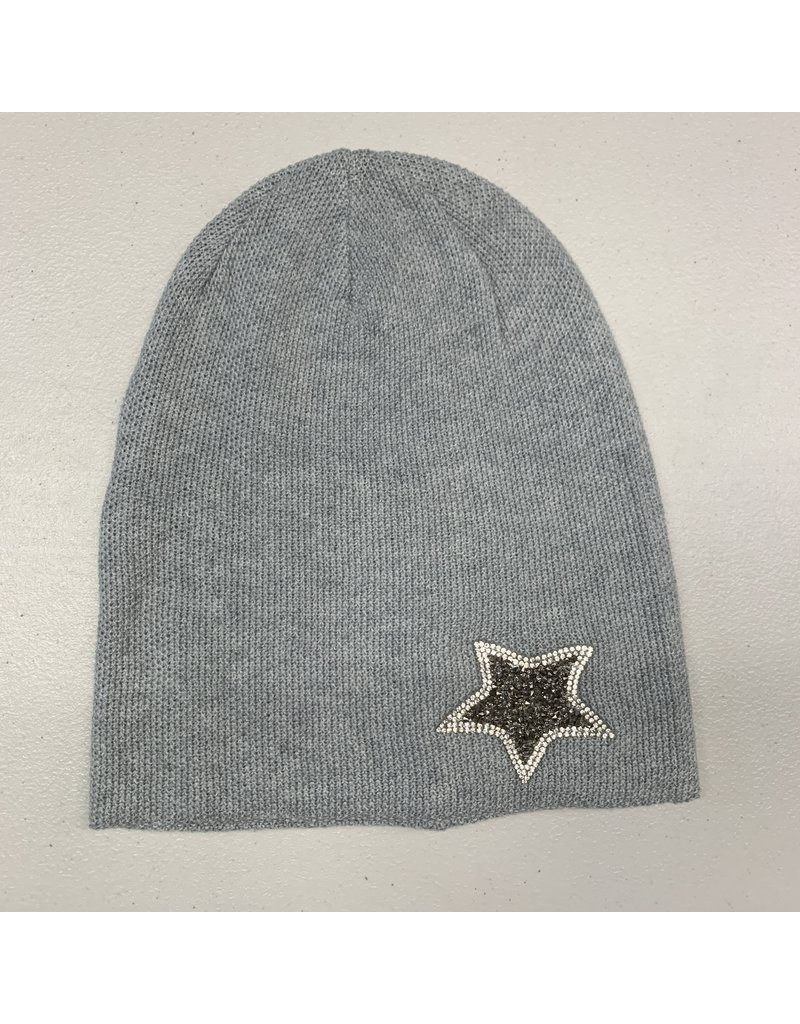 Mad Hatter Mad Hatter Ribbed Star Applique Beanie