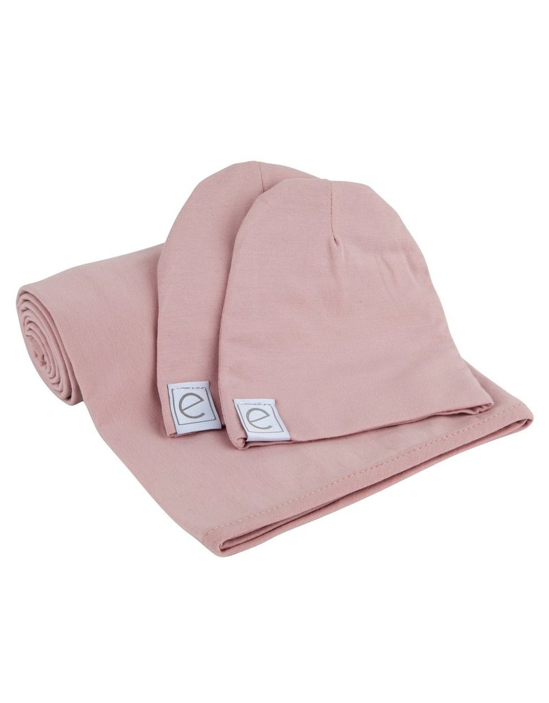 Ely Baby Ely Baby Jersey Cotton Spandex Swaddle & Hat Set