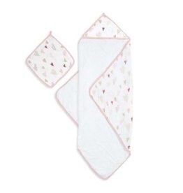 Aden + Anais Aden + Anais Muslin Backed Hooded Towel Set