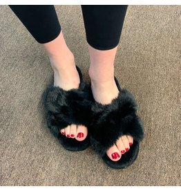 Memoi Memoi Beverly Fur Plush Slipper