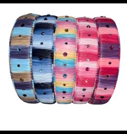 Bari Lynn Bari Lynn Crystallized Multi Color Rafia Headband