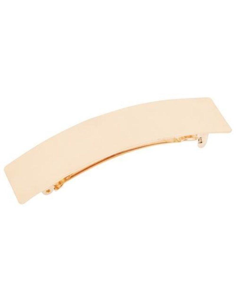 The Finest Accessories TFA Shiny Metal Rectangle Barrette
