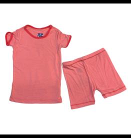 Kickee Pants Kickee Pants Short Sleeve Pajama Strawberry w/ Red Ginger