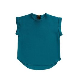 Petals & Peas Petals and Peas Essential Spring Rolled Sleeve Top