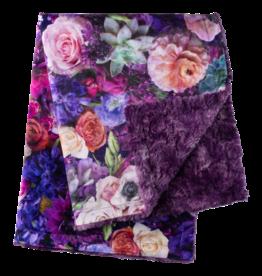Petals & Peas Petals and Peas Hoffman Peony Lux Cuddle Blanket Violet