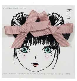 Knot Knot Trace Ribbon Bow Mini Clip Set