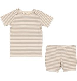 Coco Blanc Urbani Thin Stripe Baby Biker Short Set