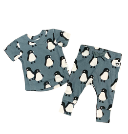 Huxbaby Hux Penguin March Drop T-Shirt and Pants Set