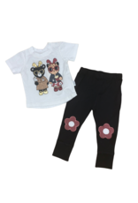 Huxbaby Hux Almost Bunny T-Shirt w/ Floral Knee Leggings