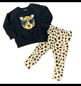 Huxbaby Hux Leopard Sweatshirt w/Animal Spot leggings