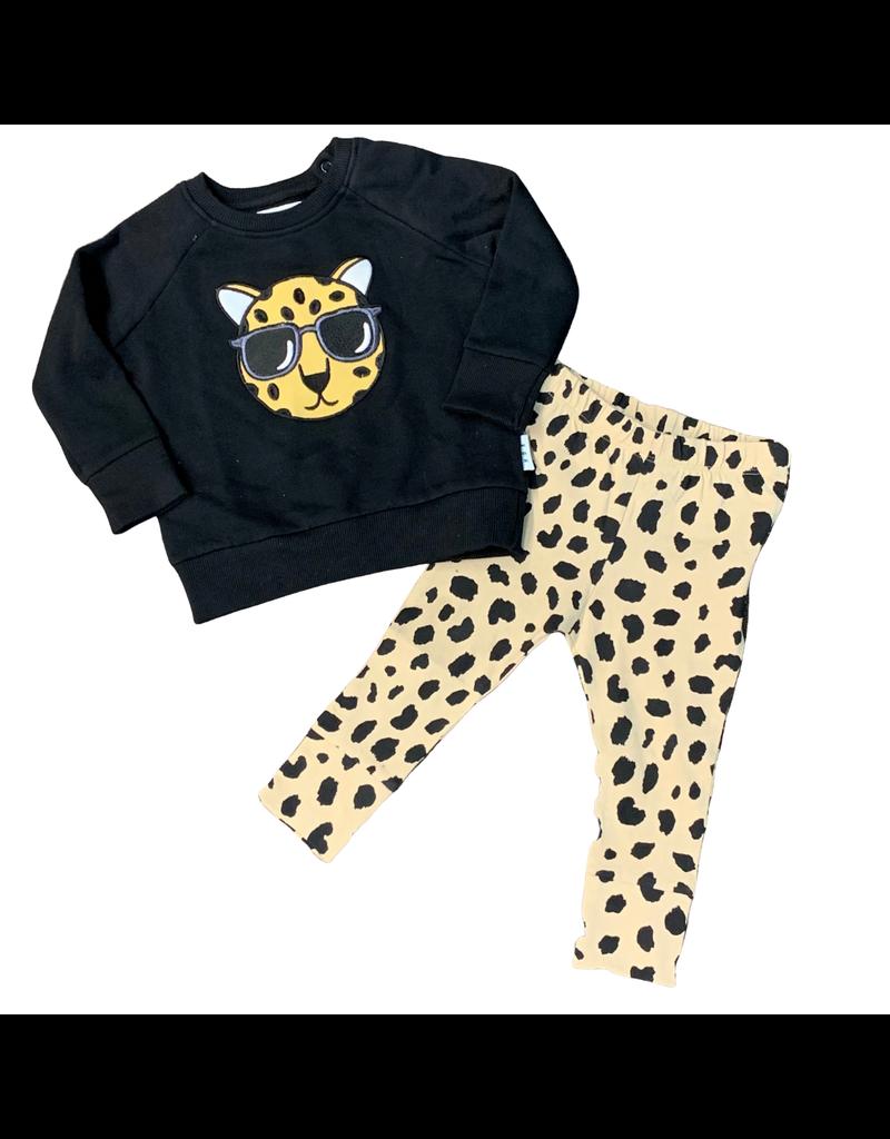 Huxbaby Hux Leopard Sweatshirt w/Animal Spot Drop Crotch Pants