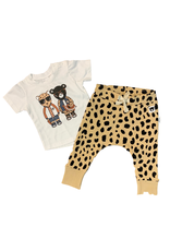 Huxbaby Hux Leopard Friends Shirt w/ Animal Spot leggings