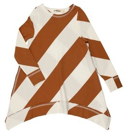 Coco Blanc Urbani Wide Stripe Asymmetric Dress
