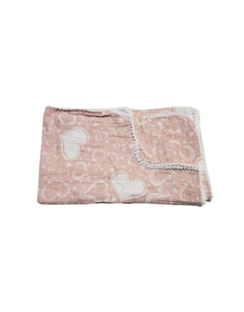 Winx and Blinx Winx and Blinx Heart Blush Pom Muslin Swaddle