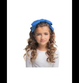 DaCee Dacee Glitter Ribbed Bow Headband