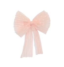 DaCee Dacee Accordion Pleated Tulle Bow Small Clip