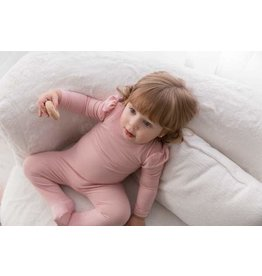 Cuddle and Coo Cuddle and Coo Pink Puffed Sleeve Footie