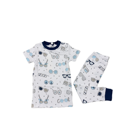 Noomie Noomie Boys Short Sleeve Blue Shades Pj Set