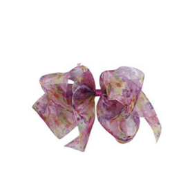 Bows Arts Bow Arts Floral Print Organdy Jumbo Bow Clip