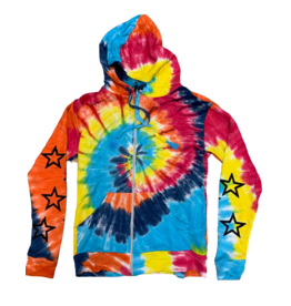 Global Love Global Love Bright Tye Dye Multi Jacket
