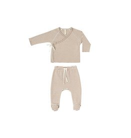 Quincy Mae Quincy Mae Kimono Top/Footed Pant Set