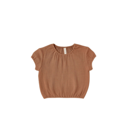 Quincy Mae Quincy Mae Cinched Tee/Shorts Set