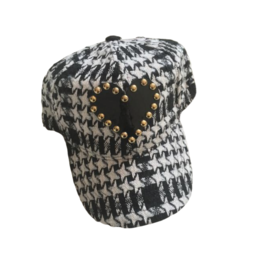 Tal Tal Capsule Heart Houndstooth Cap