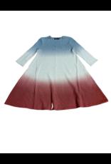 Kiki-O Space Grey Dip-Dyed Girls Dress