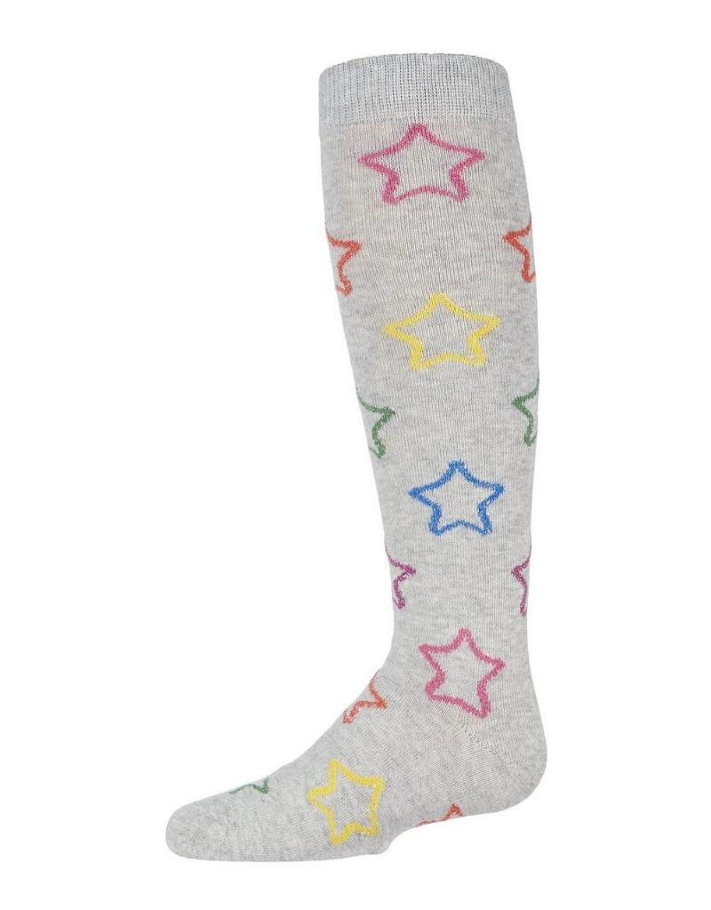 Memoi Memoi Multi Lurex Star Knee Sock MKF-7055