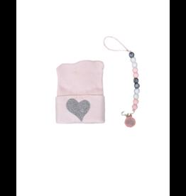 Milibo Milibo Pink & Silver Heart Set