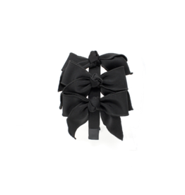 Bandeau Bandeau Triple Taffeta Bow Headband