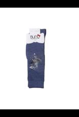 Blinq Blinq Holographic Paint Splatter Knee High Socks