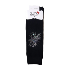 Blinq Blinq Holographic Paint Splatter Knee High Socks