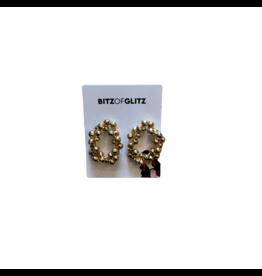 Bitz of Glitz Bitz Bead Chain Texture Metal Hoop Studs