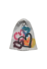 Mad Hatter Mad Hatter Ribbed Spray Paint Heart Beanie