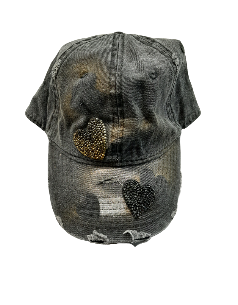 Mad Hatter Mad Hatter Distressed Hearts Cap
