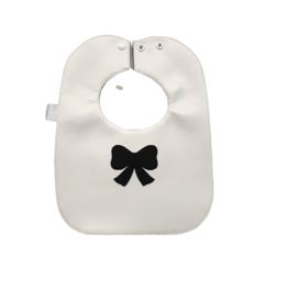 Boca Baby Boca Baby Girls White/Black Bow Bib
