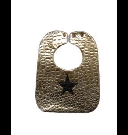 Boca Baby Boca Baby Gold/Black Star Bib