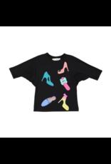 Teela Teela Girls Shoe Web Sleeve T-Shirt