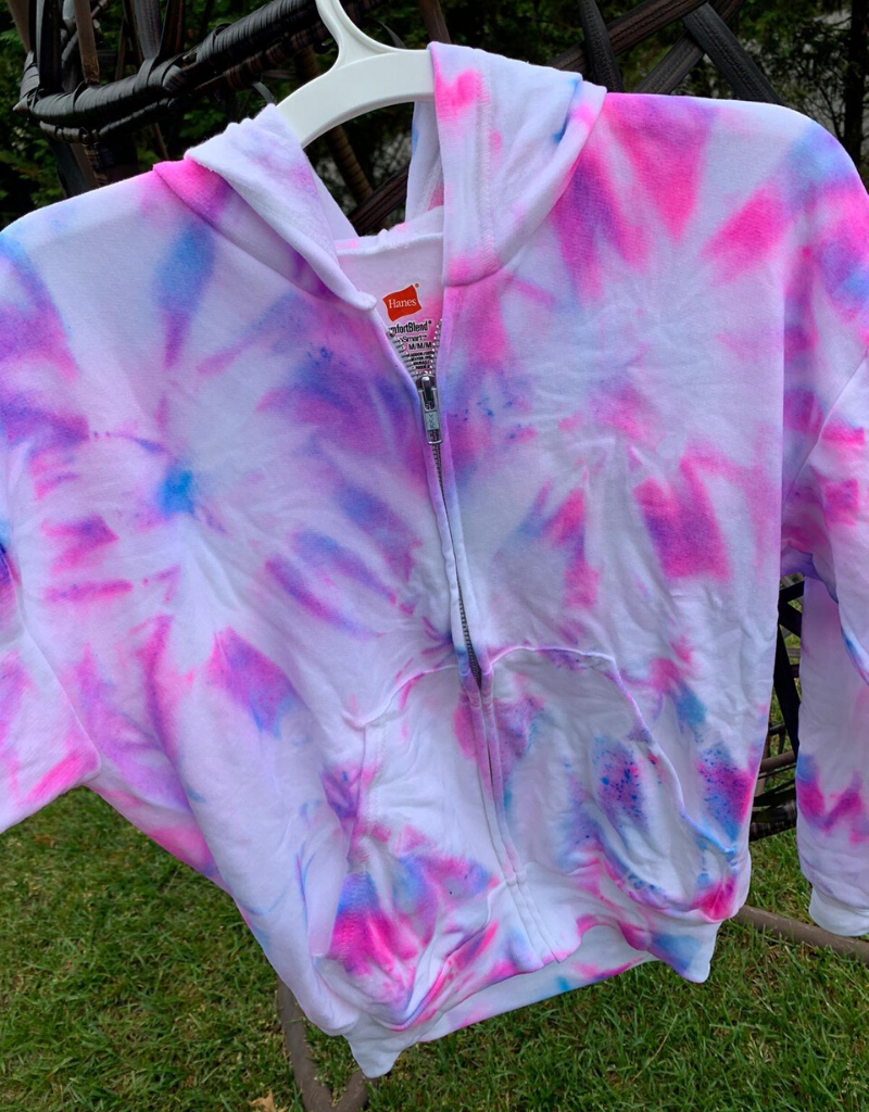 Maya Maya Tie Dye Youth Zip Up Sweatshirt