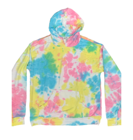 flowers by zoe Flowers By Zoe Girls Blue/Yellow Tie Dye Hoodie