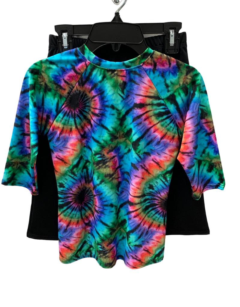 Undercover Waterwear Tie Dye Girls 2 Piece Swimwear