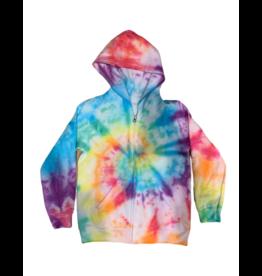 Maya Maya Girls Rainbow Tie Dye Zip Up