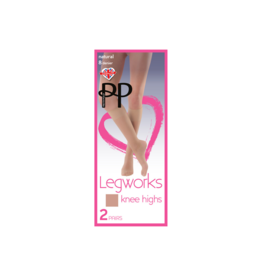 Pretty Polly Pretty Polly Legworks 2 Pair Knee Highs