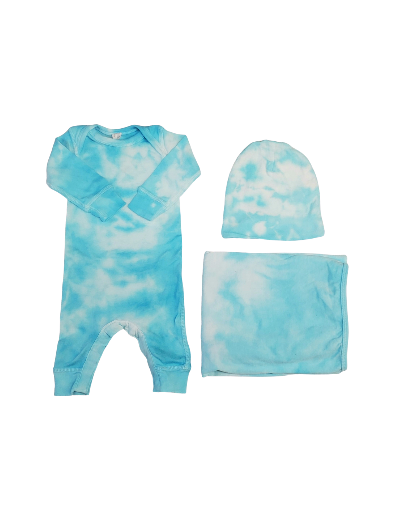 Cutie Cutie Tie Dye Footie-Baby Set (Blanket /Hat)