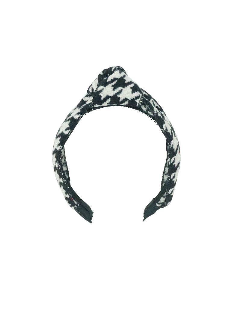 Bandeau Bandeau Houndstooth Knot Headband