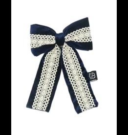 Bandeau Bandeau Vintage Lace Velvet Oversized Bow Clips