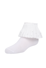Zubii Zubii Pleated Pearl Ruffle Ankle