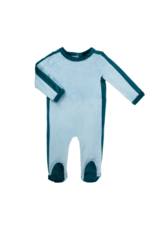 Cuddle and Coo Cuddle and Coo Outline velour footie